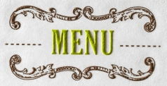 Louella Engraved Menu