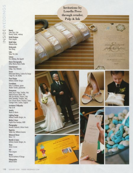 Inside Weddings Summer 2008 Hearn Story